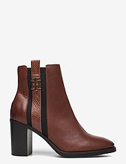 Tommy Hilfiger - TH INTERLOCK HIGH HEEL BOOT - heeled ankle boots - pumpkin paradise - 1