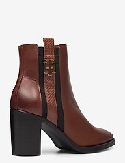 Tommy Hilfiger - TH INTERLOCK HIGH HEEL BOOT - heeled ankle boots - pumpkin paradise - 4
