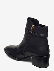 Tommy Hilfiger - BLOCK BRANDING LEATHER MID BOOT - heeled ankle boots - black - 2