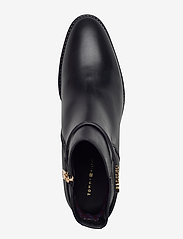 Tommy Hilfiger - BLOCK BRANDING LEATHER MID BOOT - heeled ankle boots - black - 3