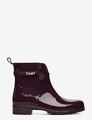 Tommy Hilfiger - BLOCK BRANDING RAINBOOT - chelsea boots - deep burgundy - 1
