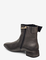 Tommy Hilfiger - METALLIC SQUARE TOE MID BOOT - heeled ankle boots - dark silver - 2