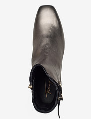 Tommy Hilfiger - METALLIC SQUARE TOE MID BOOT - heeled ankle boots - dark silver - 3