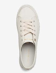 Tommy Hilfiger - SHINY FLATFORM VULC SNEAKER - sneakers - white dove - 3