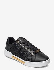 Tommy Hilfiger - TH MONOGRAM ELEVATED SNEAKER - low top sneakers - black - 0