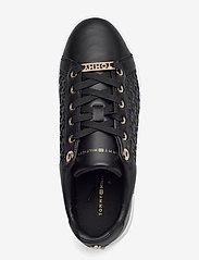 Tommy Hilfiger - TH MONOGRAM ELEVATED SNEAKER - low top sneakers - black - 3