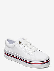 Tommy Hilfiger - CORPORATE FLATFORM CUPSOLE - sneakers - white - 0