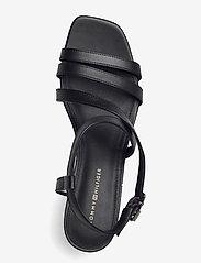 Tommy Hilfiger - TH INTERLOCK SQUARE TOE SANDAL - heeled sandals - black - 3