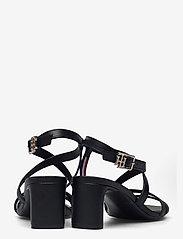 Tommy Hilfiger - TH INTERLOCK SQUARE TOE SANDAL - heeled sandals - black - 4