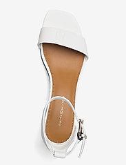 Tommy Hilfiger - ESSENTIAL MID HEEL SANDAL - heeled sandals - ecru - 3
