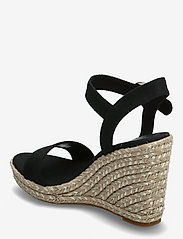 Tommy Hilfiger - TH SIGNATURE HIGH WEDGE SANDAL - heeled espadrilles - black - 2