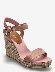 Tommy Hilfiger - TH SIGNATURE HIGH WEDGE SANDAL - espadrilles mit absatz - soothing pink - 0
