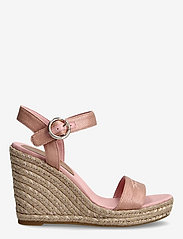 Tommy Hilfiger - TH SIGNATURE HIGH WEDGE SANDAL - espadrilles mit absatz - soothing pink - 1