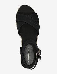 Tommy Hilfiger - TH SIGNATURE FLATFORM SANDAL - heeled espadrilles - black - 3