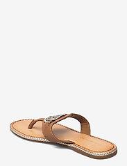 Tommy Hilfiger - ESSENTIAL LEATHER FLAT SANDAL - flat sandals - summer cognac - 2
