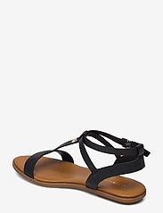 Tommy Hilfiger - FEMININE LEATHER FLAT SANDAL - flat sandals - black - 2