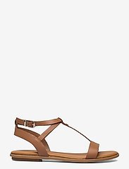 Tommy Hilfiger - FEMININE LEATHER FLAT SANDAL - flat sandals - summer cognac - 1