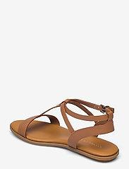Tommy Hilfiger - FEMININE LEATHER FLAT SANDAL - flat sandals - summer cognac - 2