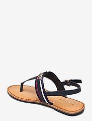 Tommy Hilfiger - SHIMMERY RIBBON FLAT SANDAL - flat sandals - desert sky - 2