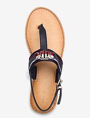 Tommy Hilfiger - SHIMMERY RIBBON FLAT SANDAL - flat sandals - desert sky - 3