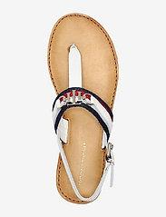 Tommy Hilfiger - SHIMMERY RIBBON FLAT SANDAL - flat sandals - ecru - 3