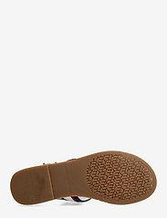 Tommy Hilfiger - SHIMMERY RIBBON FLAT SANDAL - flat sandals - ecru - 4