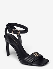 Tommy Hilfiger - TOMMY PADDED HIGH HEEL SANDAL - heeled sandals - black - 0