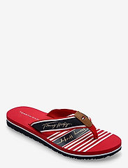Tommy Hilfiger - TOMMY SIGNATURE BEACH SANDAL - flat sandals - primary red - 0