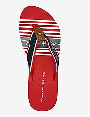 Tommy Hilfiger - TOMMY SIGNATURE BEACH SANDAL - flat sandals - primary red - 3