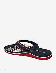 Tommy Hilfiger - TOMMY SIGNATURE BEACH SANDAL - flat sandals - rwb - 2