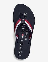 Tommy Hilfiger - TOMMY RIBBON FLAT BEACH SANDAL - flat sandals - desert sky - 3