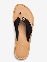 Tommy Hilfiger - LEATHER FOOTBED BEACH SANDAL - flat sandals - black - 3