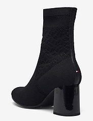 Tommy Hilfiger - TH KNITTED MID HEEL BOOT - heeled ankle boots - black - 2