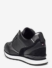 Tommy Hilfiger - METALLIC DRESSY WEDGE SNEAKER - low top sneakers - black - 2