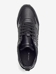 Tommy Hilfiger - METALLIC DRESSY WEDGE SNEAKER - low top sneakers - black - 3