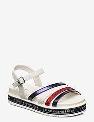 Tommy Hilfiger - PLATFORM SANDAL BLUE/RED/WHITE - sandals - blu/rosso/bianco - 0