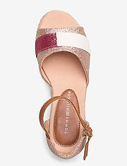 Tommy Hilfiger - ROPE WEDGE SANDAL - sandals - rosa - 3