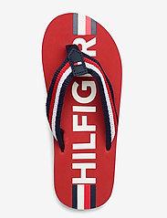 Tommy Hilfiger - MAXI LETTERING PRINT FLIP FLOP - klipklapper & badesko - red/multicolor - 3