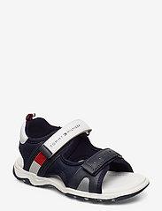 Tommy Hilfiger - VELCRO SANDAL - sandals - blu/bianco - 0