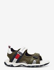 Tommy Hilfiger - VELCRO SANDAL - sandals - military green/white - 1