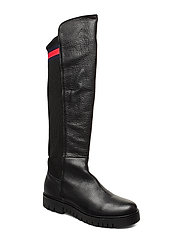 FLAG SOCK TOMMY JEANS BOOT - BLACK