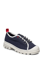 COLOR BLOCK LACE UP SHOE - TWILLIGHT NAVY