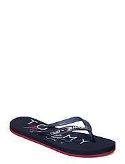 RUBBER THONG BEACH SANDAL - TWILIGHT NAVY