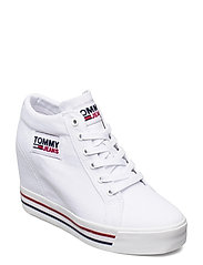 TOMMY JEANS WEDGE SNEAKER - WHITE