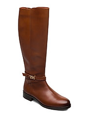 TH HARDWARE LEATHER LONGBOOT - RUST