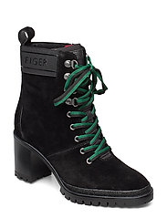 SPORTY OUTDOOR MID HEEL LACE UP - BLACK