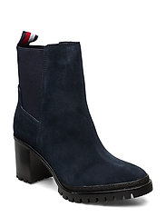 SPORTY MID HEEL CHELSEA - MIDNIGHT