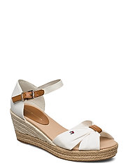 BASIC OPEN TOE MID WEDGE - IVORY