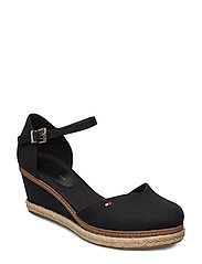 BASIC CLOSED TOE MID WEDGE - BLACK