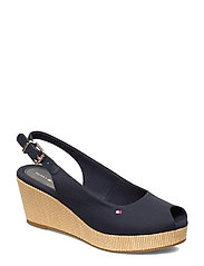 ICONIC ELBA SLING BACK WEDGE - DESERT SKY
